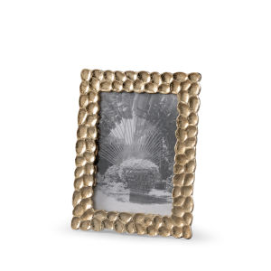 Gold 7-Inch 5 x 8-Inch Thumbprints Photo Frame