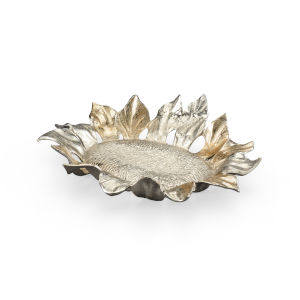Gold 22-Inch Sunflower Tray