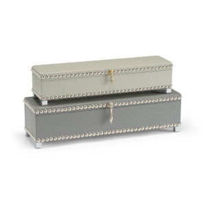 Mist 18-Inch Treasure Boxes, Set of 2