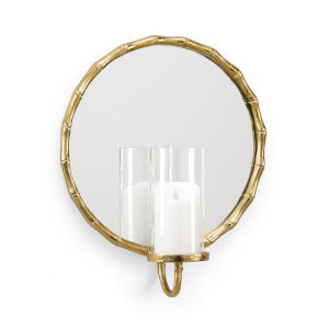 Gold 16-Inch Portal Candle Sconce