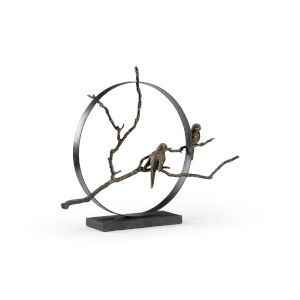 Black and Bronze 29-Inch Serenity Sculpture
