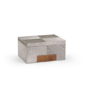 Gray 12-Inch Hair on Hide Box