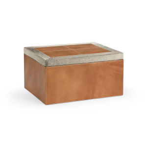 Brown 15-Inch Leather Box