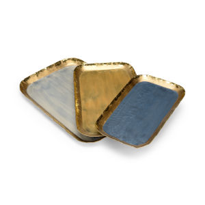 Multi-Colored 19-Inch Grant Trays, Set of 3