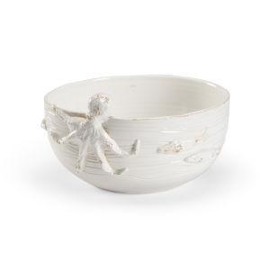 White 12-Inch La Mar Bowl