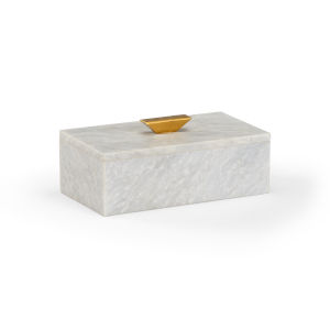 White 9-Inch Rectangle Merle Box
