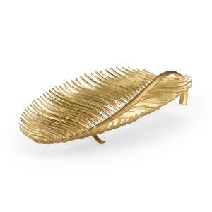 Gold 31-Inch Island Palm Server