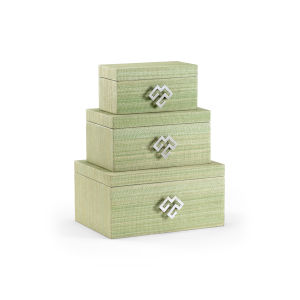Green 14-Inch Kure Boxes, Set of 3