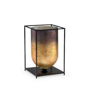 Black and Gold 9-Inch Castle Rock Vase