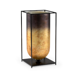 Black and Gold 9-Inch Pagosa Vase
