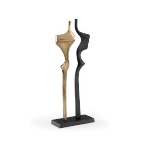 Gold and Black 11-Inch Golden Year Sculpture