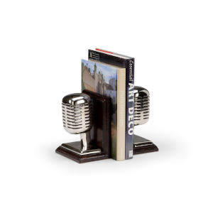 Brown 6-Inch Recording Studio Bookends Pair