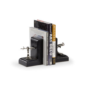 Black 5-Inch Air Harbor Bookends Pair