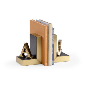 Multi-Colored 5-Inch a to Z Bookends Pair