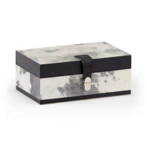 White and Black 8-Inch Marbleous Box