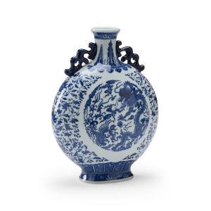 Blue 13-Inch Shi Vase
