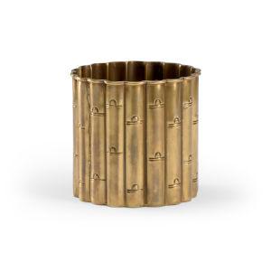 Brass 6-Inch Bamboo Planter