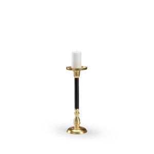 Black and Gold 6-Inch Single Mingle Candlestick