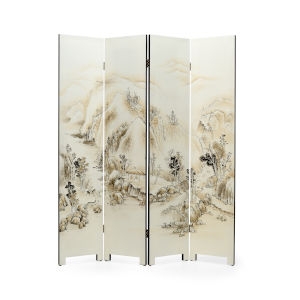 White 64-Inch Honshu 4 Panel Screen