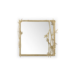 Thicket Metallic Gold 26 x 26 Inch Square Wall Mirror