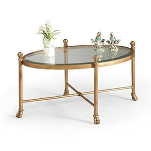 Gold Gordon Oval Cocktail Table