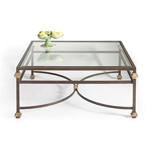 Bronze Collar Square Coffee Table