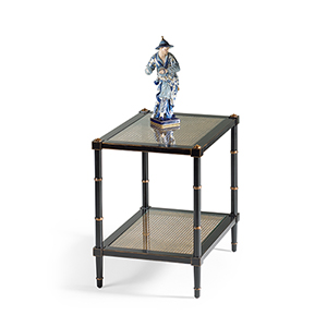 Black Conners Caned End Table