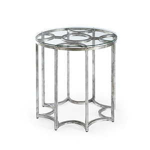 Matthew Frederick Silver Lisette Side Table