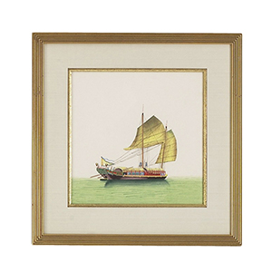 Gold Chin Junk Sail Painting- Half