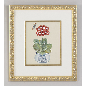 Red Auricula Painting