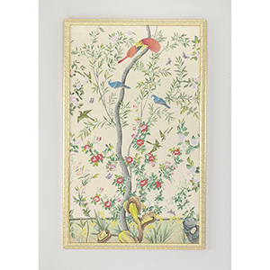 Gold Treal Bird Painted Panel