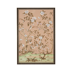 Brown and Silver Edgedale Peach Panel-B