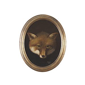 Gold Fox head Oil Painting