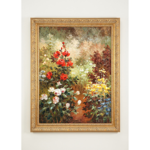Gold Wild Flowers Oil Painting