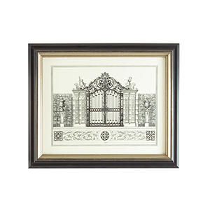 Black and Gold Grand Garden Gate II Print