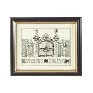 Black and Gold Grand Gardengate III Print