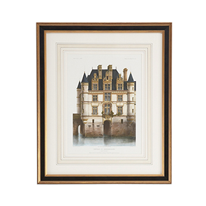 Black and Gold Chateau Chenunceaux Print