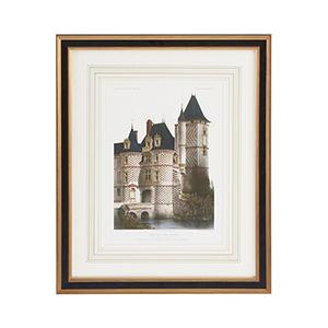 Black and Gold Chateau Des Reaux Print
