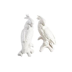 White Cockatoo Figurines- Large