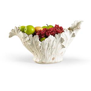 Off-White Acanthus Leaf Bowl