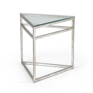 Matthew Frederick Silver Triangular Table