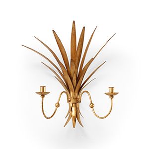 Gold Wheat Sconce