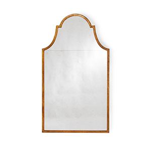 Lisa Kahn Iron and Gold Architectural Wall Mirror