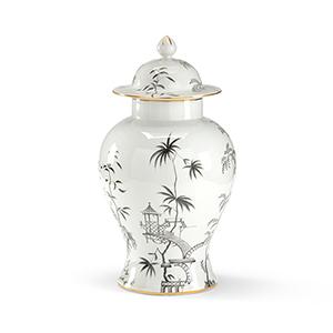 Black and White Chinoisserie Jar