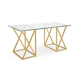 Lisa Kahn Gold Gilt Desk