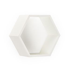 Lisa Kahn White Honeycomb Wall Box