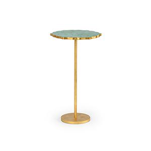 Gold Malachite Side Table