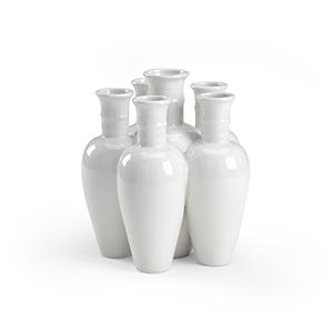 Pam Cain White Cluster Vase