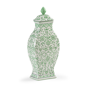 Green Covered Urn