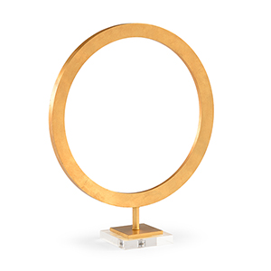 Pam Cain Gold Large Circle Accent